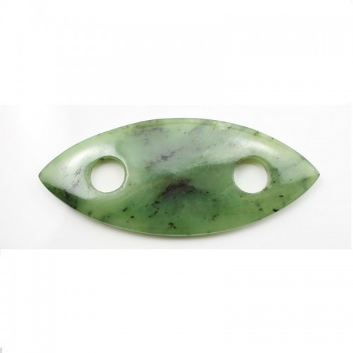 Pendentif Oval Ruby Zoisite 33X77mm