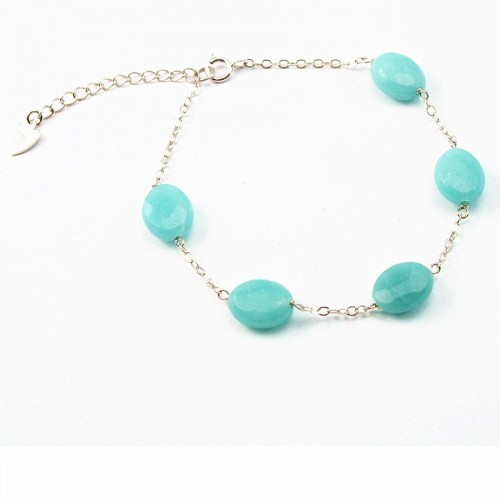 Bracelet chaîne argent 925 Amazonite
