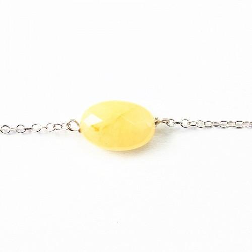 Bracelet chaîne argent 925 jade jeune