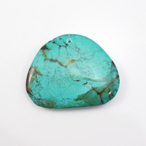 Pendentif Turquoise Divers 30x37mm
