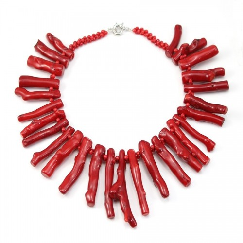 Collier Simple Bamboo Mer Teinte Rouge
