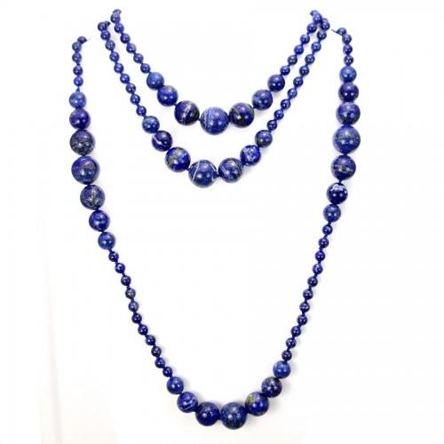 Sautoir lapis lazuli 140cm