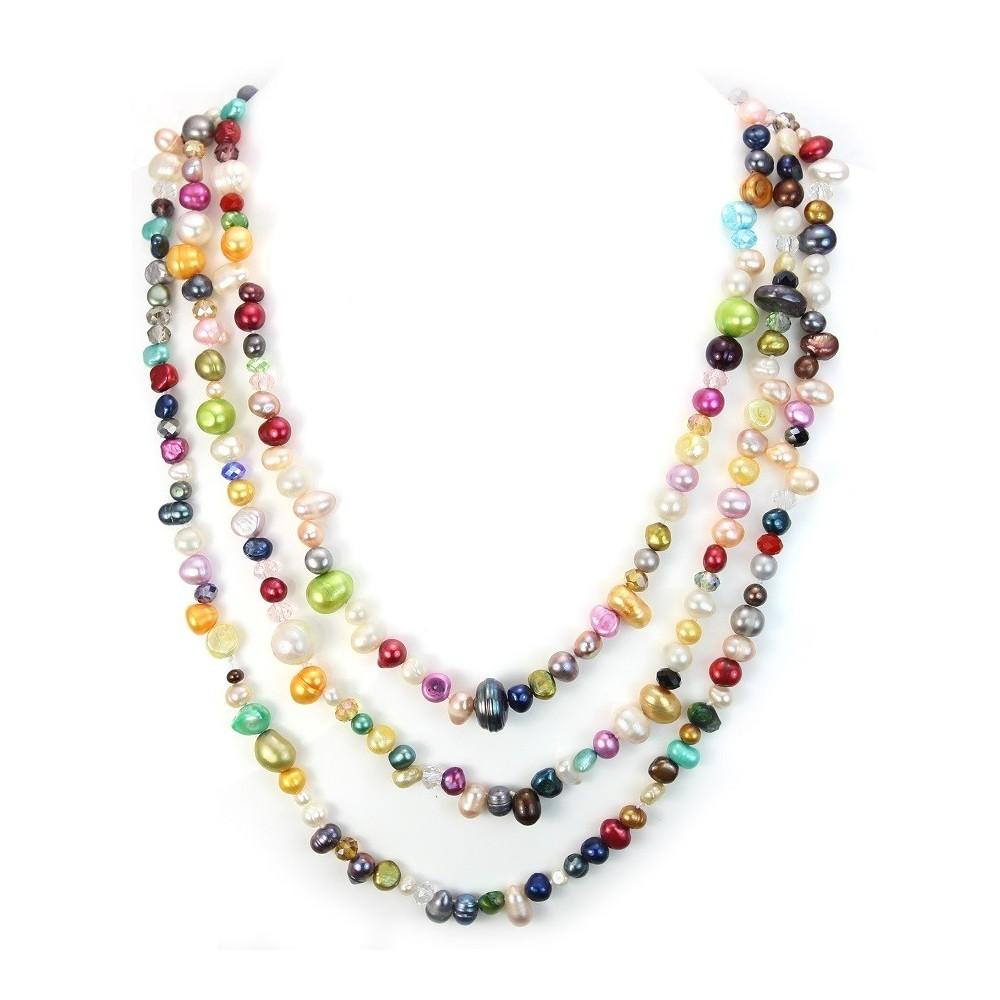 sautoir perle d 39 eau douce multicolore pas cher. Black Bedroom Furniture Sets. Home Design Ideas