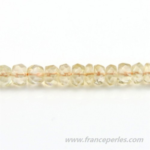 Citrine Rondelle Facette 3*5mm x 10pcs