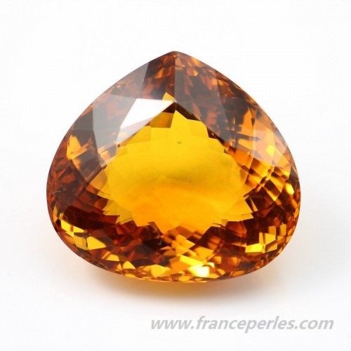 Citrine heart 34 x 31mm 107.09CTS