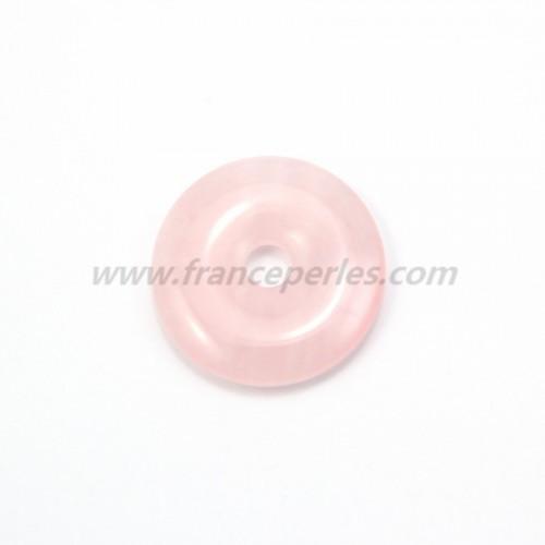 Donut en quartz rose 30mm*6mm*4.8mm