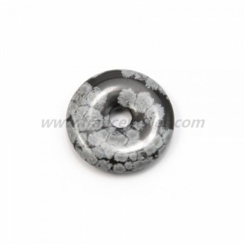 Dount obsidienne flacon de neige 30mm*6mm*4.8mm