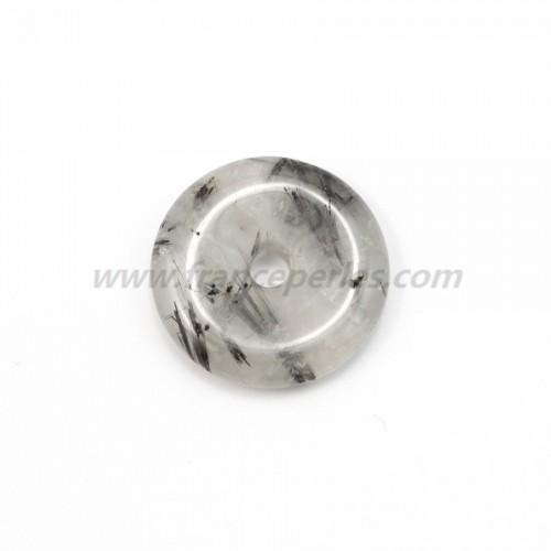 Donut quartz rutile (tourmaline noir) 30mm*6mm*4.8mm
