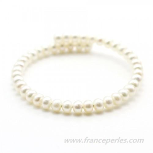Bracelet white freshwater pearl