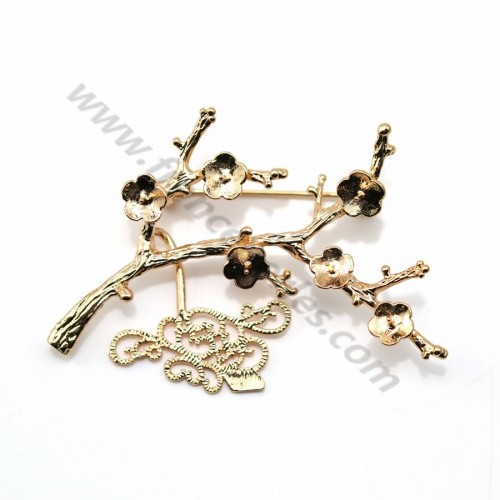 "Brooch in branch plated by ""flash"" or x 1pc"