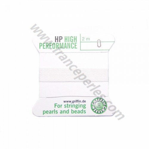 High performance wire bead cord 0.3mm with needle attached x 2m
