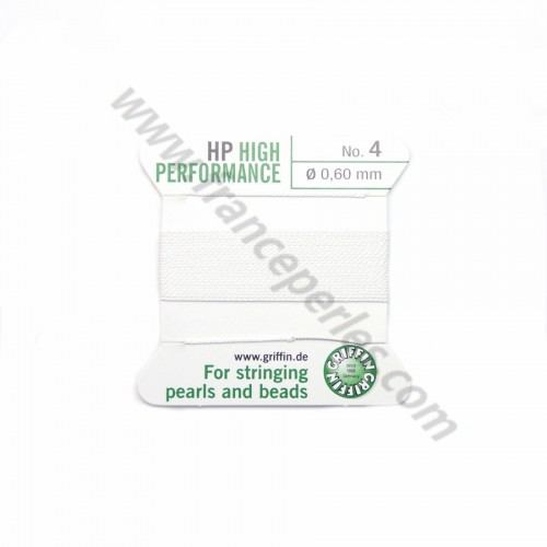 High performance wire bead cord 0.45mm with needle attached x 2m