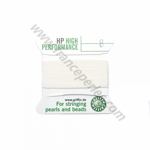 High performance wire bead cord 0.60mm with needle attached x 2m