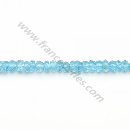 Blue Topaz facet rondelle 2.5-3mm x 33cm
