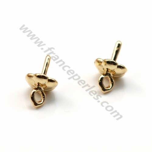 """Pendant for half - drilles by """"flash"""" gold on brass 5.6mm x 10pcs"""