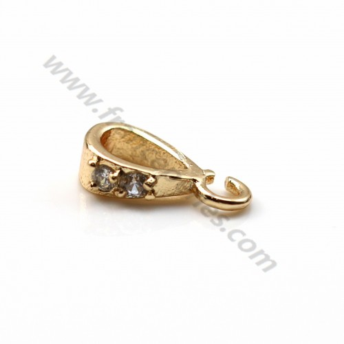 "Veneer Pendant by ""flash"" Gold on brass 2.6*9.5mm x 2pcs"
