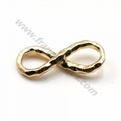 "Intercalary the infinity stuck by ""flash"" gold on brass 5.5*14mm x 5pcs"
