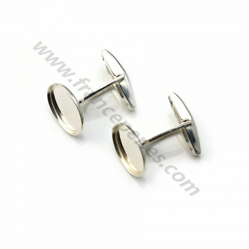 Cuff link with 10*14 mm,Sterling silver 925 x 2pcs