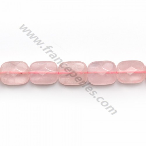 Quartz rose rectangle facette 8x10mm x 5pcs