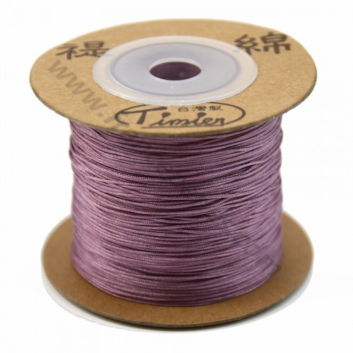 Fil polyester rose balais 0.5 mm x 180m