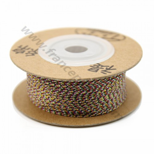 Golden multicolor thread polyester 0.4mm x 110 m