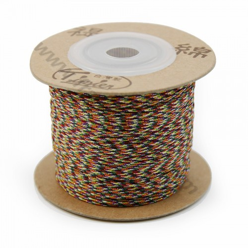 Golden multicolor thread polyester 0.8mm x 100 m
