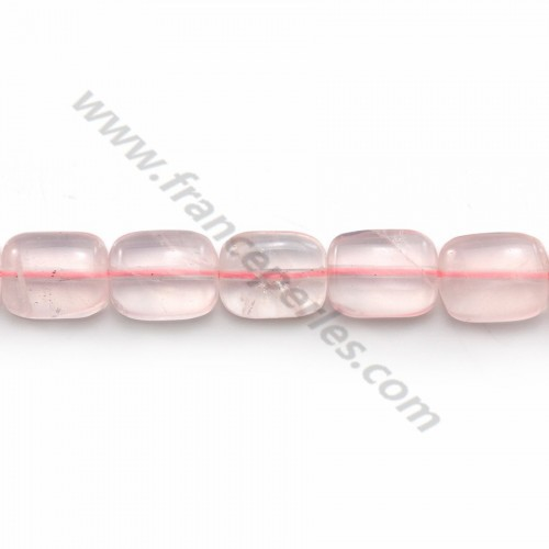 Quartz rose rectangulaire 8*10mm x 6 pcs