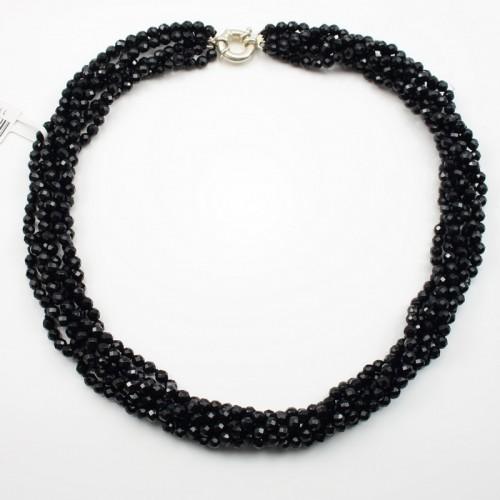 Collier Agate Noir Torsade Barnard
