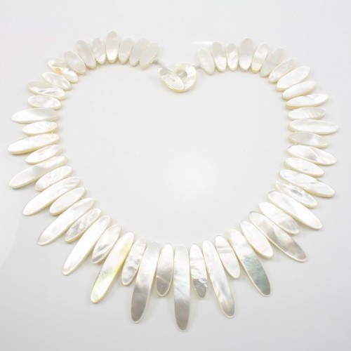 Collier Simple Nacre Blanche